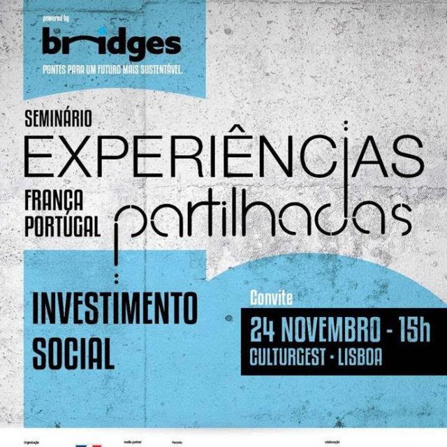 """Seminário """"Investimento Social, Experiências partilhadas França-Portugal"""""""
