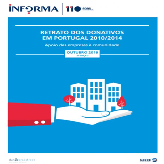 """Estudo 'Retrato dos Donativos em Portugal – O apoio das empresas à comunidade 2014/2010"""""""